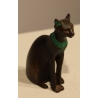 Chat Bastet en bronze par Franklin MINT 1986