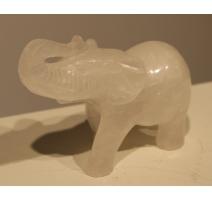 Éléphant en cristal de roche