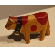 Cow in carved wood