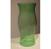 Globe candle holder green glass