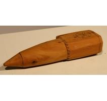 Coffin en bois pour pierre à aiguiser de faux arte