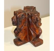 Trois singes sages en bois sculpté