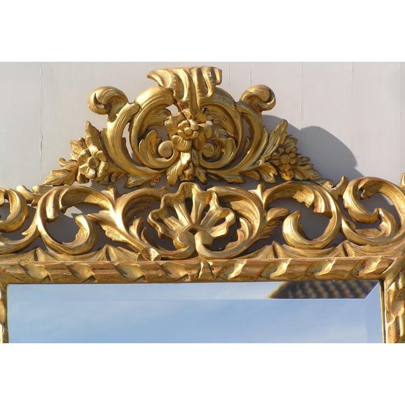 miroir baroque rectangulaire sur moinat sa antiquit s d coration. Black Bedroom Furniture Sets. Home Design Ideas