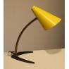 Lampe vintage abat-jour émaillé jaune