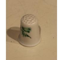 Dé à coudre en porcelaine décor fleur
