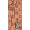Pelle et pince de chimnée en fer forgé