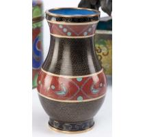 Vase cloisonné décor d'oiseaux
