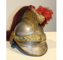 Casque d'officier de dragons, crin rouge