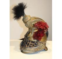 Casque d'officier de dragons, léopard