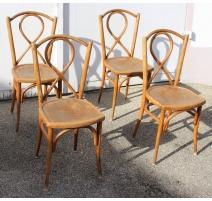 Suite de 4 chaises de bistrot GYF