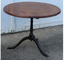 Table de bistro ronde, pieds en fonte