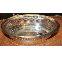 Corbeille ovale en argent 950 ajouré