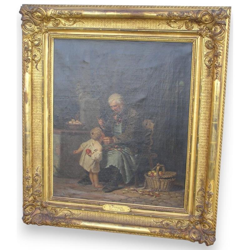 peintures tableau grand p re moinat sa antiquit s d coration. Black Bedroom Furniture Sets. Home Design Ideas