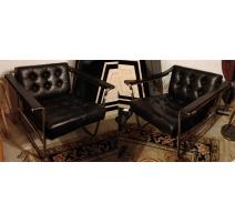 Paire de fauteuils HE-113 par EICHENBERGER