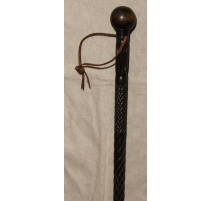 Cane in hand-carved ebony