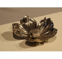 Ashtray in the shape of flower, bronze-silver