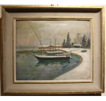 """Table """"Morges"""", signed Alf. BOLLE"""