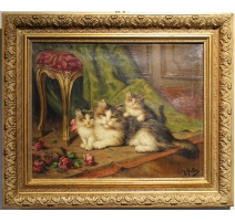 Table 'Cats' signed Leon HUBER