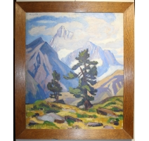 """Table """"Weisshorn"""" signed Francois GOS Son"""