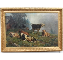 """Table """"Cows"""" signed WOLF"""