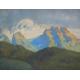 """Aquarelle """"Vue des Alpes""""."""