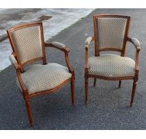 Paar stühle im stil Louis XVI
