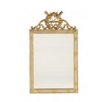 Miroir style Louis XVI en bois doré et gris