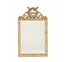Mirror Louis XVI style in gilded wood and grey