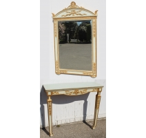 Console and mirror Directoire style