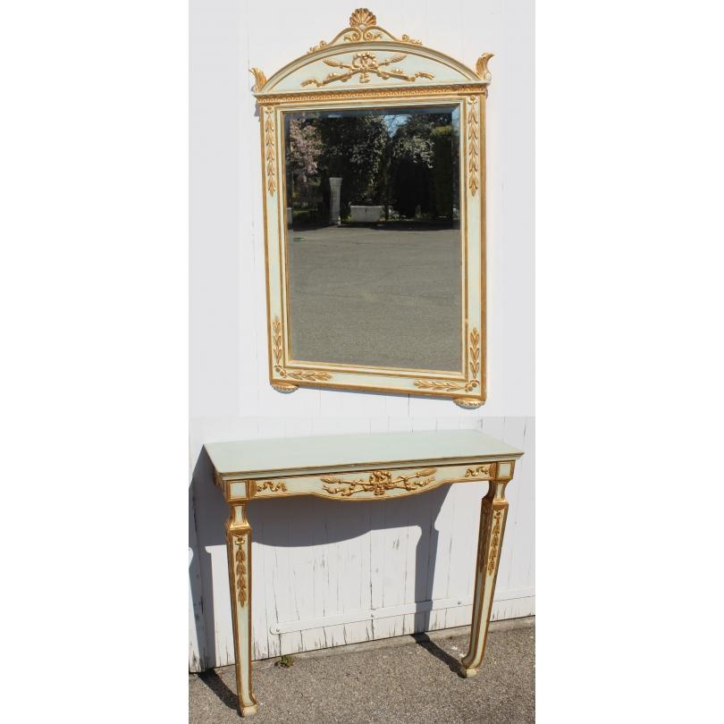 Console et son miroir de style Directoire