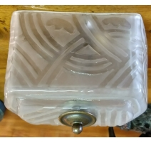 Ceiling light Art Deco frosted glass etched