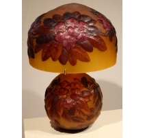 Lampe Champignon style GALLÉ Rhododendron