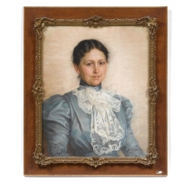 "Pastel ""Portrait of a Young Woman"" signed RAPIN"