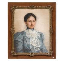 """柔和的""""一个年轻女子的肖像""""签署了RAPIN"""