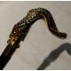 Bastón con empuñadura de la Serpiente con piedras de oro