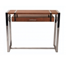 """Console """"Madison"""" wood and stainless steel"""