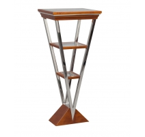 """Pedestal """"Montaigne"""" stainless steel and wood"""