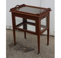 Table service, glass-mahogany