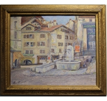 """Table """"Fountain"""" signed M. WIAMET"""
