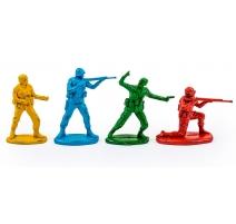 Set de 4 soldats en résine
