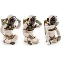 Singes de la sagesse Astronautes en résine