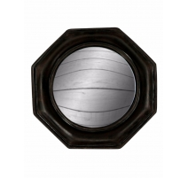 Miroir convexe cadre octogonal noir