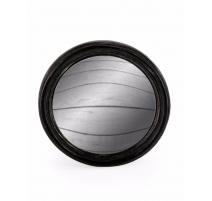 Pequeño espejo convexo marco redondo de color negro