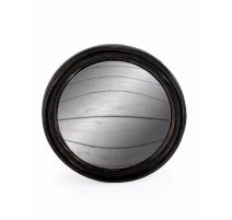 Small convex mirror frame round black