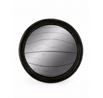Medium convex mirror frame round black