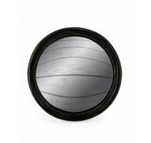Moyen miroir convexe cadre rond noir