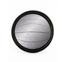 Большое выпуклое зеркало круглой раме черный