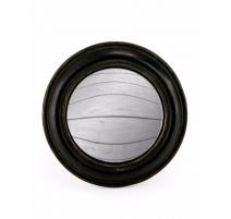 Небольшое выпуклое зеркало круглой раме широкий черный