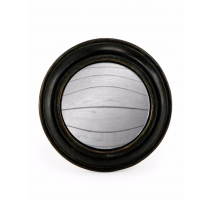 Petit miroir convexe cadre rond large noir