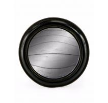Medio espejo convexo marco de la ronda de ancho negro